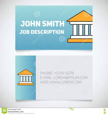 business card print template with courthouse logo stock vector