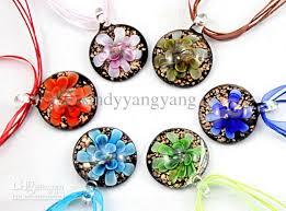 art glass necklace pendant images Wholesale round lampwork glass pendant necklace fashion italian jpg