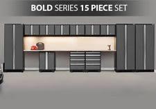 Garage Cabinet Set Newage Products Bold 3 0 Series 8 Piece Garage Storage Cabinet Set
