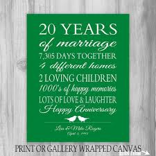20 yr anniversary anniversary gifts for 20th anniversary 20 year anniversary gift