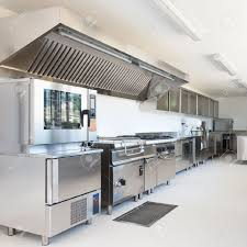 restaurant kitchen furniture professional kitchen in modern building stock photo picture and