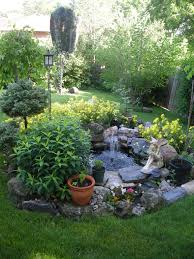 small water garden but notice the greenery around it not