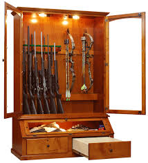 Wood Gun Cabinet Furniture Tropical Wooden Gun Cabinets With Simple Amerock