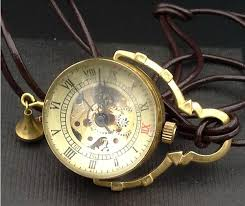 ladies necklace watch images Men ladies solid brass rotary crystal ball mechanical necklace jpg