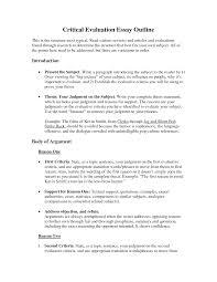 sample outline essay film essay plan