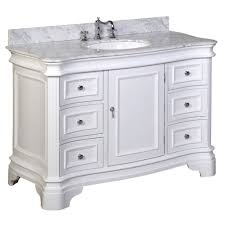 Guest Bathroom Vanity by Katherine 48 Inch Vanity Carrara White Kitchenbathcollection