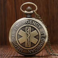 woman necklace watch images Bronze vintage emt emergency medical technician paramedic badge jpg