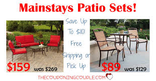 Mainstays Patio Furniture by Mainstays Patio Sets As Low As 89 Save Up To 110