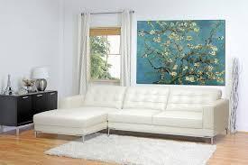Turquoise Leather Sectional Sofa Babbitt Ivory Leather Modern Sectional Sofa Affordable Modern
