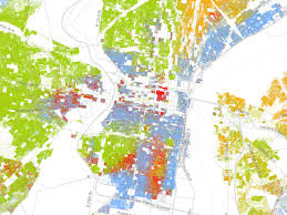 Philadelphia America Map how segregated is philly here u0027s a map that shows you curbed philly