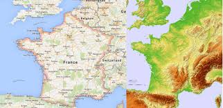 Cannes Map by Topographic Hillshade Map Of France 2370 2784 Mapporn