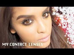 Light Brown Contact Lenses My Contact Lenses Youtube