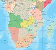 Map Of Africa Political by Political Map Of Central And South Africa