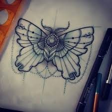 butterfly with pearls and gems search tattoos