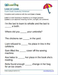 grade 4 vocabulary worksheets u2013 printable and organized by subject