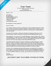 elementary teacher cover letter sample u0026 writing tips resume