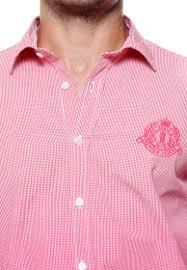 tog men dark light pink combination casual check shirt tmss114