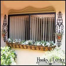 72 inch window boxes long planter boxes hooks u0026 lattice