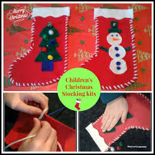 felt stocking kits for kids