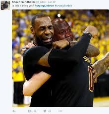 Lebron Crying Meme - shaun sundholm tweet crying lebron know your meme
