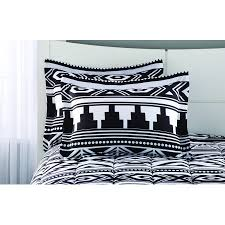 mainstays black and white aztec bed in a bag coordinating bedding