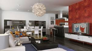 Accent Walls In Living Room by Color Combinations For Living Room And Kitchen Red Pictures Colour