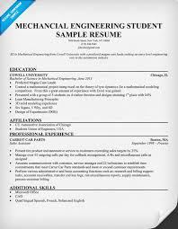 Sample Resume Internship by Mechanical Engineering Internship Resume Sample Resumecompanion