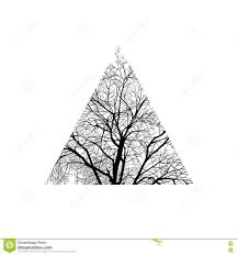 tree trimmed in a triangle stock vector image of 71494011