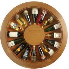 unique wine racks fun rooms round brown contemporary wooden wine bottle rack wall