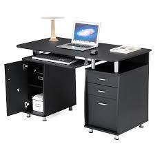 2 Person Desks by Songmics Computer Desk Workstation With Sliding Keyboard Shelves