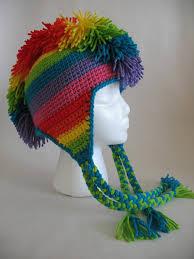 crochet hair mohawk pattern rainbow mohawk hat pdf crochet pattern