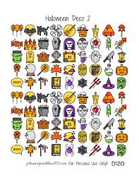 Free Printables For Halloween by Halloween Deco Free Printable Planner Stickers U2013 Plannerproblem