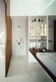 interior concrete walls terrazzo flooring for modern elegant bathroom interior