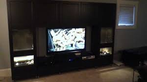 ikea besta large entertainment center project and assembly tips