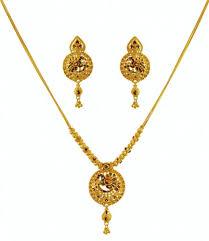 gold pendant necklace set images 22k gold peacock necklace set ajns59975 22k gold necklace jpg