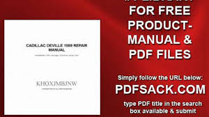 cadillac deville 1989 repair manual video dailymotion