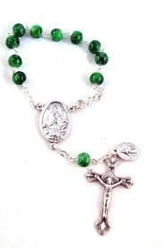 auto rosary st one decade car mirror rosary