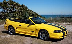Yellow Mustang With Black Stripes 1995 Mustang Gt