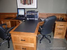 Home Office With Two Desks Attractive 2 Person Computer Desk Cf D81607 L Shape Home Office 2