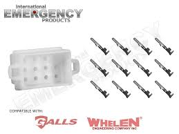12 pin connector plug for whelen traffic advisors u0026 sirens