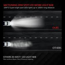 Brightest Led Light Bar by Amazon Com Mictuning Mt Chcr20 20w Long Distance Single Row Cree