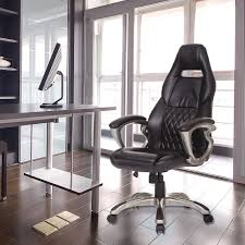 homcom pu leather office chair