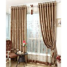 patterned embroidery polyester insulated and blackout bedroom curtains