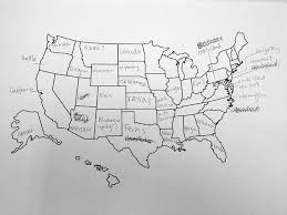united states map with labels of states and capitals brits label american states poorly