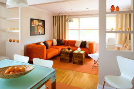 Livingroom Accessories Fascinating 80 Bright Orange Living Room Accessories Inspiration