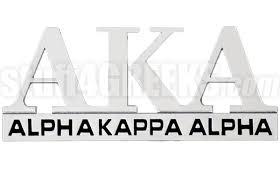 alpha kappa alpha chrome greek letters car decal ns