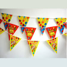 s day decoration 20pcs lot mixed design pe happy birthday party banner kids party