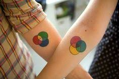 my wife and i got bro tats additive and subtractive color wheels