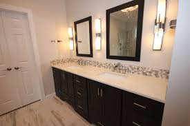 Dark Cabinets Light Countertops Dark Bath Cabinets By The Bath Remodeling Center Llc