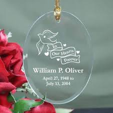 memorial christmas ornaments engraved in our hearts forever personalized christmas memorial ornament